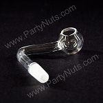 90 degree Quartz Domeless Nail with 10mm male joint, fits 10mm female fitting