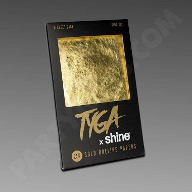 Tyga Shine 24K Gold Rolling Papers King Size 6-Pack