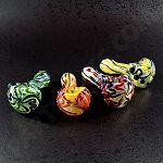 "Full Inside Out Hand Pipe 4"" to 5"" mixed colors - Made in USA"