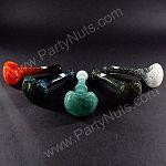 "Frit multi color inside out Hand Pipe 4"" to 5"" mixed colors - Made in USA"
