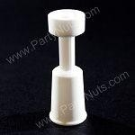 Ceramic Domeless Nail with 18/19mm Female fitting,  fits on 18/19mm Male fitting