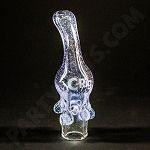 Dripping with Honey Lavender C-Rig Hand Blown Glass Dome/mouthpiece