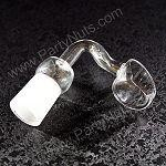 Banger Quartz Domeless Nail with 14mm female joint, fits 14mm male fitting