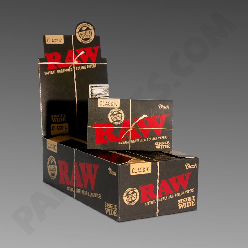 Raw Black Single Wide Rolling Papers