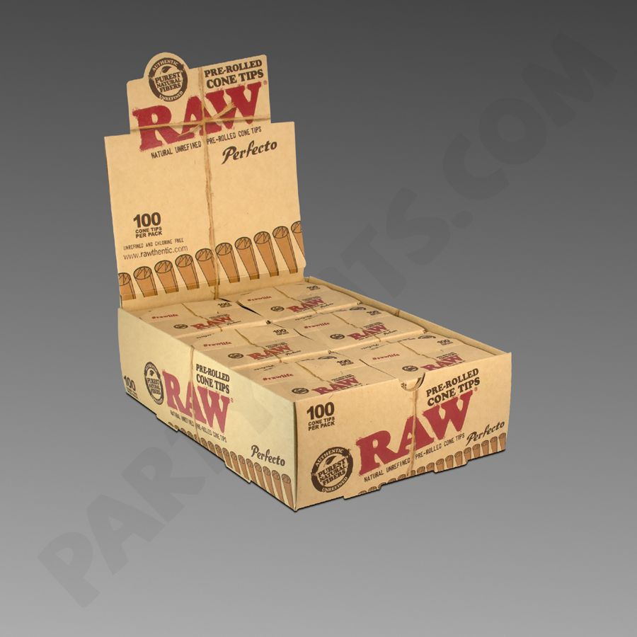 Raw Pre Rolled Cone Tips 100ct 6pk