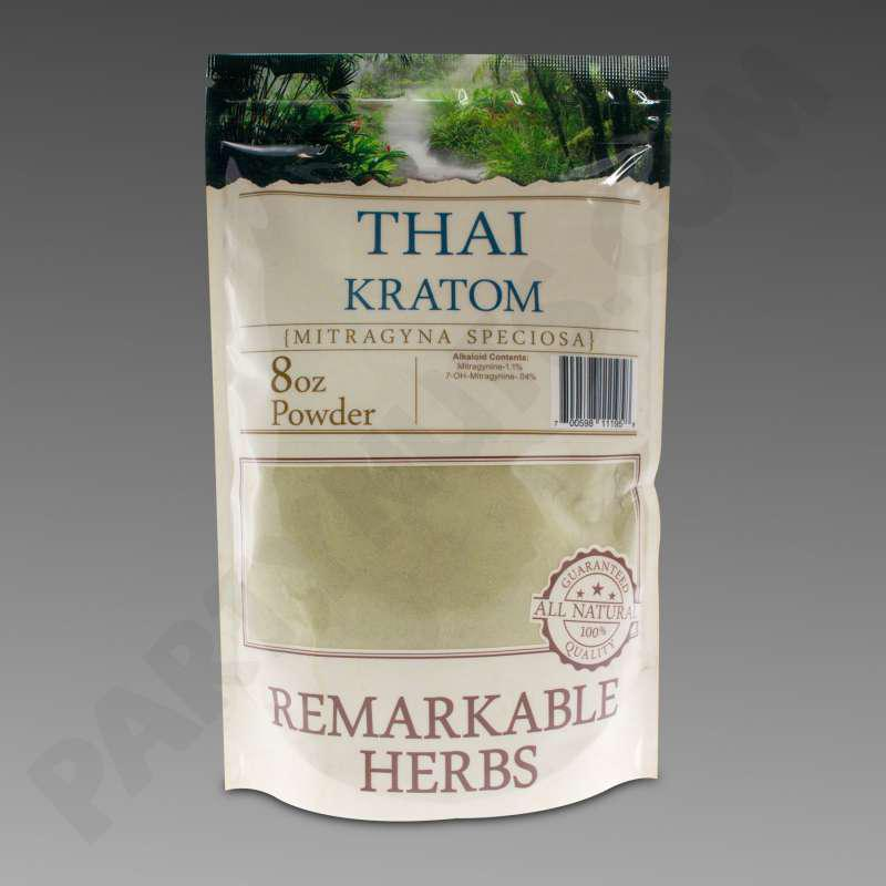 Remarkable Herbs Kratom Thai Powder 8 Oz Bag 1 2 Lb
