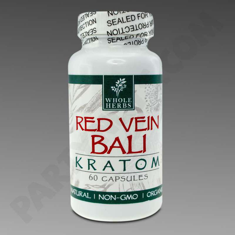 Whole Herbs Kratom Red Vein Bali 30g 60 Count Bottle