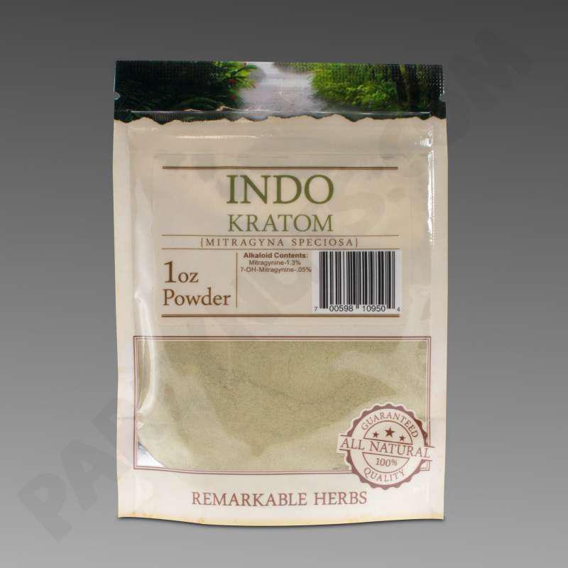 Remarkable Herbs Kratom Indo Powder 1 Oz Bag