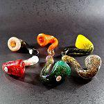 Frit Sherlock multi color inside out Hand Pipe 4