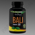 Kratom Kaps; Bali 100g Powder in Bottle