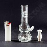 BP Glass Works Double Bubble Mini Tube with Ceramic Domless nail