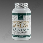 Whole Herbs Kratom; Green Vein Malay125g, 250 count Bottle.