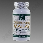 Whole Herbs Kratom; Green Vein Malay 30g, 60 count Bottle.