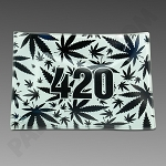 Glass Tray Small 420 Black & White by V Syndicate
