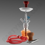 Amira Blizzard 1 Hose Hookah White & Red