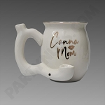 Canna Mom Ceramic Mug Pipe White