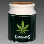 Cannabis Ceramic Jar Large