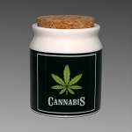 Cannabis Ceramic Jar Small