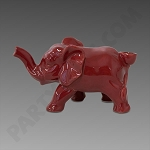 Ceramic Elephant Pipe Red