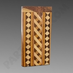 Dugout w/ Inlay Design Square & Stripes - W2