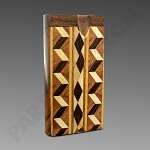 Dugout w/ Inlay Design Zig Zag - W3