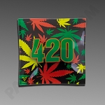 Glass Ashtray - 420 Rasta