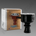 Elite Glider Bowl V2 Black - Silicone Hookah Bowl