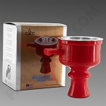 Elite Glider Bowl V2 Red - Silicone Hookah Bowl