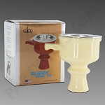 Elite Glider Bowl V2 White - Silicone Hookah Bowl