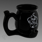 High Tea Ceramic Mug Pipe Black