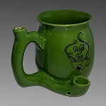 High Tea Ceramic Mug Pipe Green