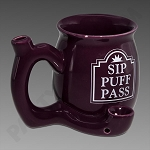 High Tea Ceramic Mug Pipe Purple