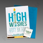 Kush Kards - 4pk - High Wishes for Pre-Roll (Birthday Card)