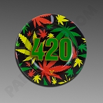 Metal Ashtray - 420 Rasta