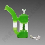 Ooze Stack Green Glow - Silicone Bubbler