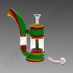 Ooze Stack Rasta - Silicone Bubbler