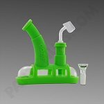 Ooze Steamboat Green - Silicone Bubbler
