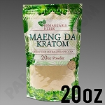 Remarkable Herbs Green Vein Maeng Da Kratom Powder 20 oz Bag