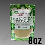 Remarkable Herbs Green Vein Maeng Da Kratom Powder 8 oz Bag 1/2 LB