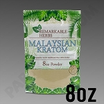 Remarkable Herbs Green Vein Malaysian Kratom Powder 8 oz Bag 1/2 LB