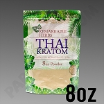 Remarkable Herbs Green Vein Thai Kratom Powder 8 oz Bag 1/2 LB