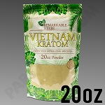 Remarkable Herbs Green Vein Vietnam Kratom Powder 20 oz Bag