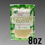 Remarkable Herbs Green Vein Vietnam Kratom Powder 8 oz Bag 1/2 LB