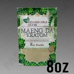 Remarkable Herbs White Vein Maeng Da Kratom Powder 8 oz Bag 1/2 LB