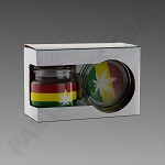 Rasta Leaf Jar & Ashtray Set