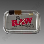 Raw Small Rolling Tray Silver