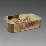 Raw Wood Cache Box With Tray Lid