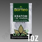 O.P.M.S. Silver - Super Green Borneo POWDER 1 oz / 28.35g Kratom