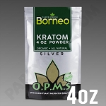 O.P.M.S. Silver - Super Green Borneo POWDER 4 oz Kratom