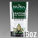 O.P.M.S. Silver - White Vein Indo POWDER 16 oz Kratom